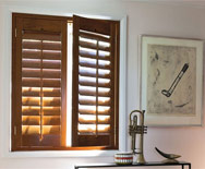 "3 1/2"" Louver Wood Shutters"