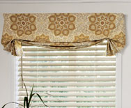 Casual Fabric Valance - swag shades, fabric shades - Smith+Noble