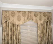 Claremont Fabric Valance - Casual fabric valance, pleated valance, kitchen valance - Smith+Noble