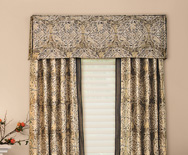 Corner Pleat Fabric Valances - Casual fabric valance, pleated valance, kitchen valance - Smith+Noble