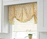 Dakota Fabric Valance - Casual fabric valance, swag valance, kitchen valance - Smith+Noble