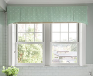 Dawson Fabric Valance - rod mounted valance, casual valances - Smith & Noble