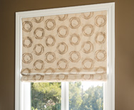 Flat Roman Fabric Shades - Custom Roman Window Shades