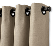 Grommet Drapery - Fabric Custom Window Treatments - Smith+Noble