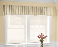 Hudson Fabric Valance - rod mounted valance, casual valances - Smith & Noble