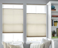 Luxe Linen Petite Cell Semi-Sheer Honeycomb Shades