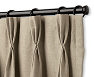 Pinch Pleat Drapery - Window Treatments, Coverings, Drapery Hardware - Smith+Noble