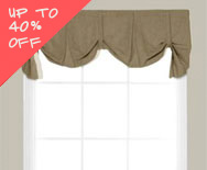 Sale Dakota Fabric Valance - Casual fabric valance, swag valance, kitchen valance - Smith+Noble
