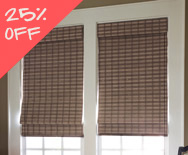 Sale Natural Woven Flat Fold Shades - Woven wood flat fold shades, natural flat fold shades - Smith+Noble