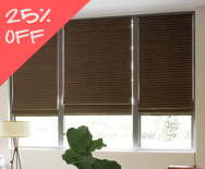 Sale Natural Woven Waterfall Shades - Custom Bamboo Blinds - Smith+Noble