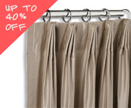 Sale Parisian Pleat Drapery - Custom Window Treatments, Coverings, Drapery - Smith+Noble
