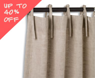 Sale Tie Top Drapery - Fabric Window Treatments, Curtains - Smith+Noble
