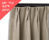 Sale X Pleat Drapery - Pleated Drapery, Custom Curtains - Smith+Noble