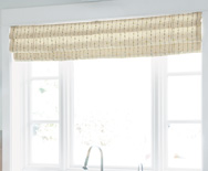 Soft Roman Fabric Valance  - swag shades, fabric shades - Smith+Noble