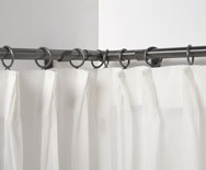 Wrought Iron Medium Corner Window Rod Set