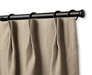 X Pleat Drapery - Pleated Drapery, Custom Curtains - Smith+Noble