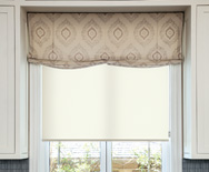 Wendy Bellissimo Home Relaxed Roman Fabric Valance - Window Shades, Custom Roman Shades - Smith+Noble