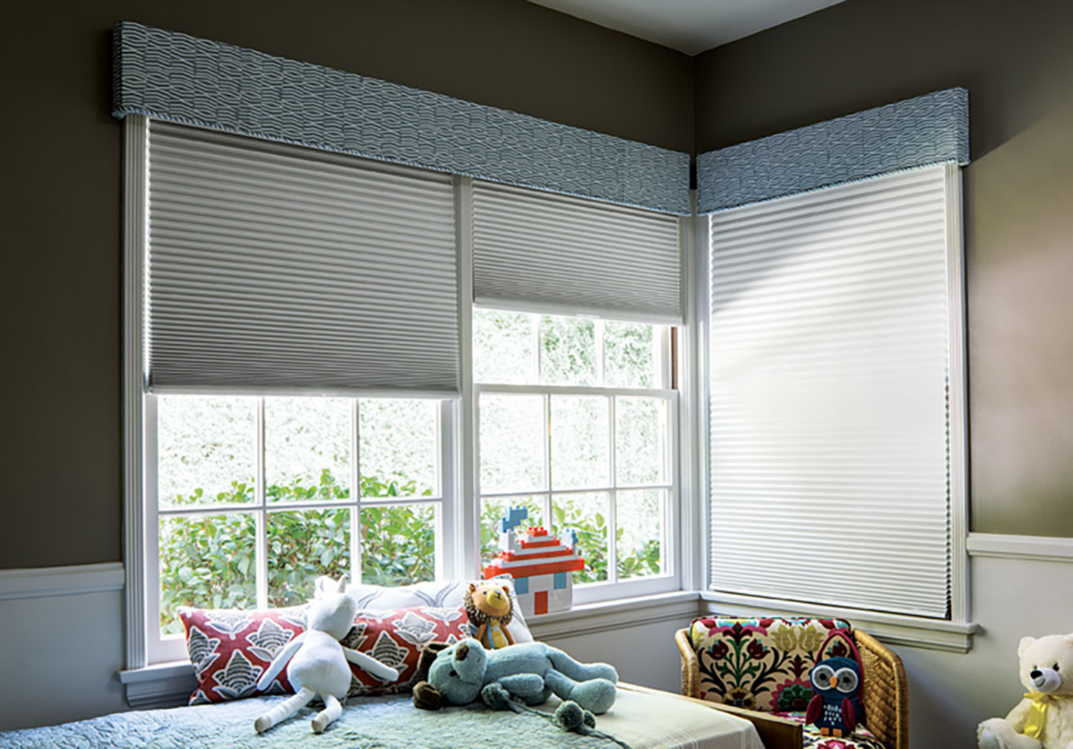 Blackout window treatments room darkening options from for Smith and noble shades