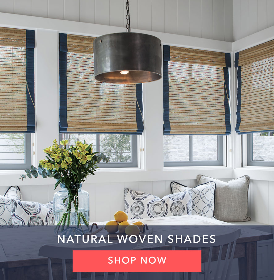 Motivia Motrization Natural Woven Shades