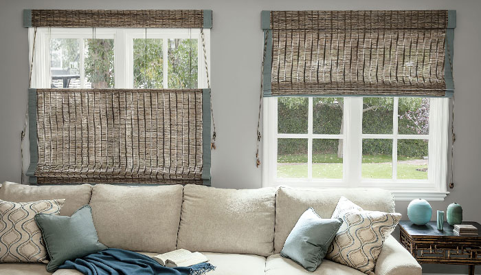 custom handcrafted natural woven shades only smith