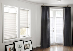 layering pleated shades