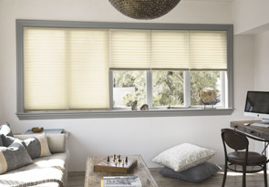 Pleated Shades for Wide Windows