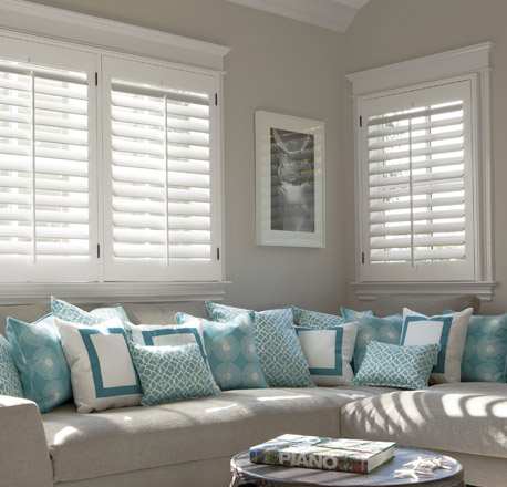 Shutters in the living room