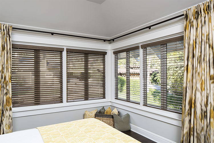 Wood Blinds in the Family room