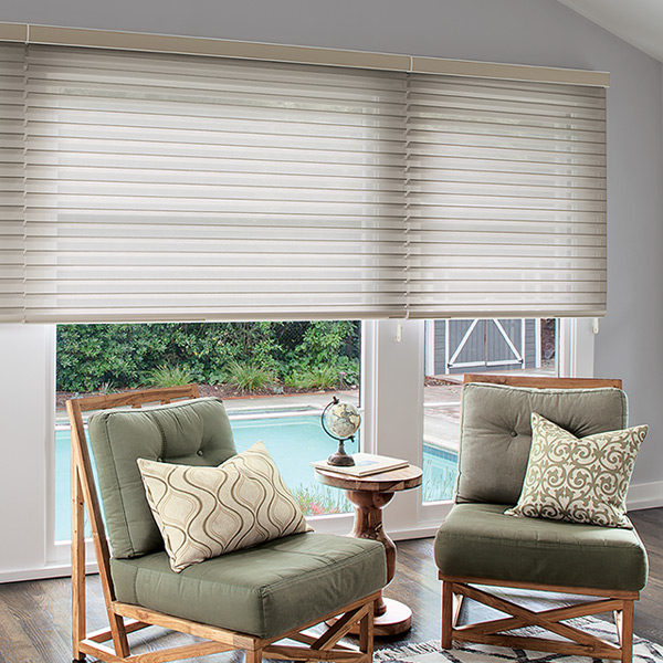 Custom window treatments blinds shades curtains for Smith and noble shades